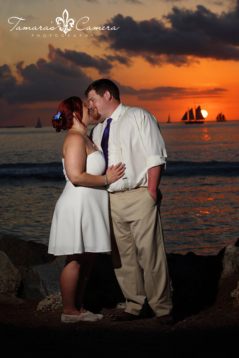 Bride and Groom Key West Sunset