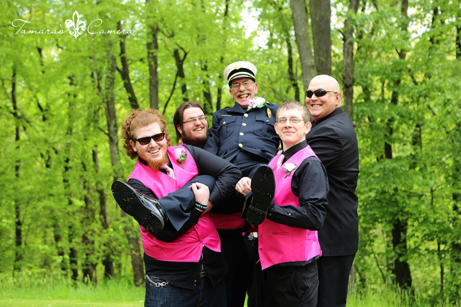 Fire Fighters, Mature Weddings, Weirton Weddings, Groomsmen